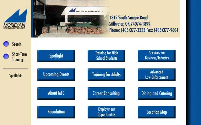 Meridian Technology Center website